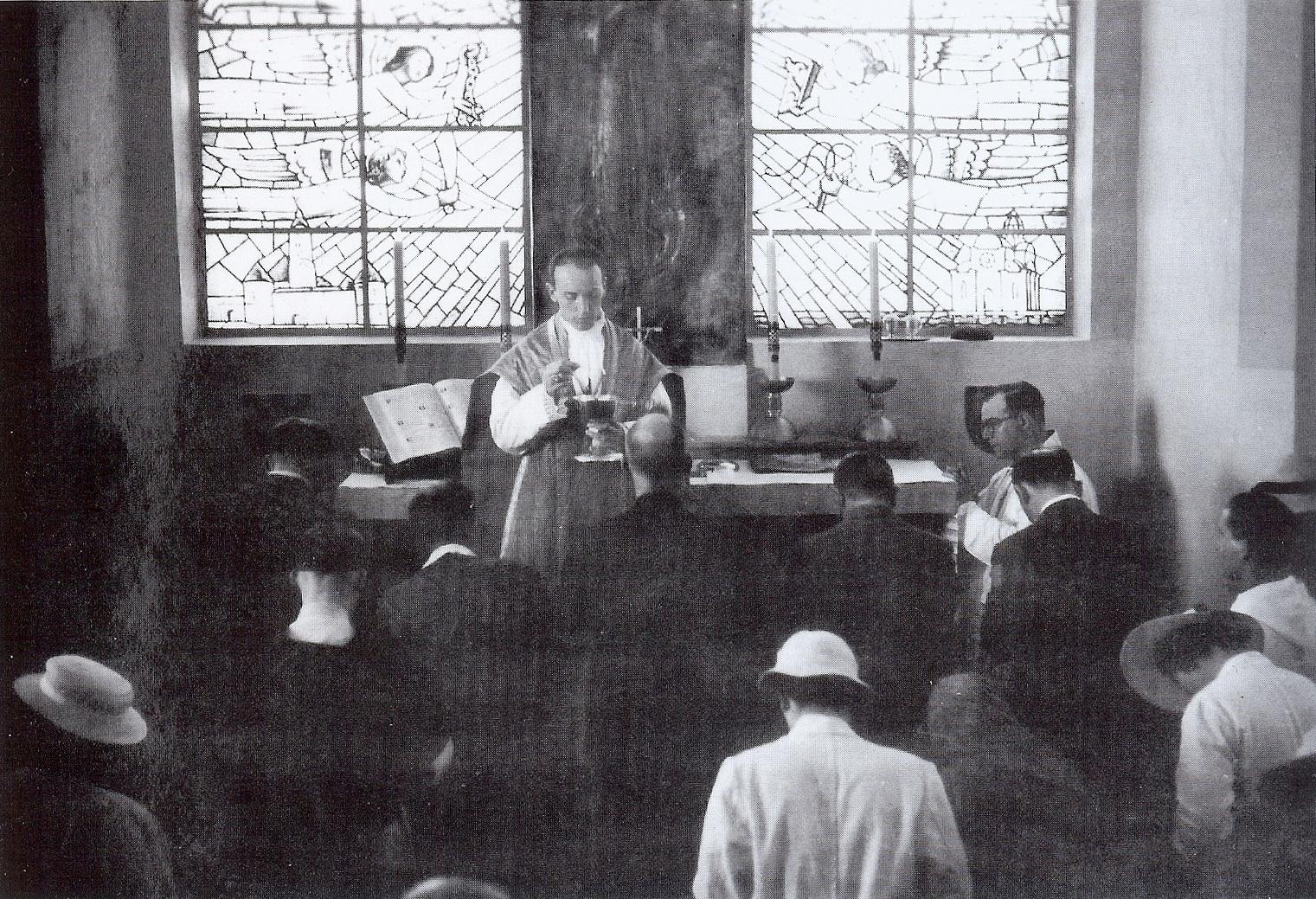 Sv. Misa u crkvi sv. Ćirila i Metoda u Jeruzalemu, oltar sv. Nikole Tavelića.