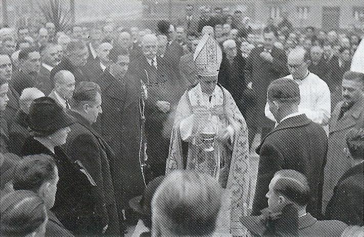 Blagoslov kamena temeljca Odgojnog zavoda hrvatskog radiše, 19. studenog 1939.