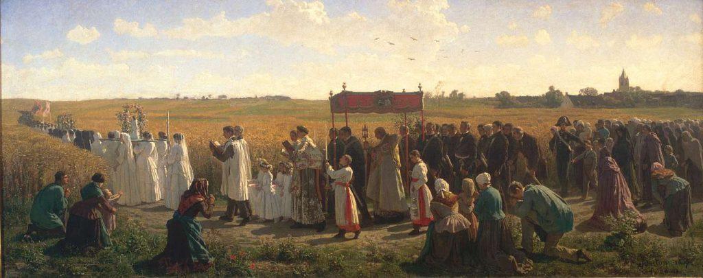 La Benediction des bles en Artois Jules Breton