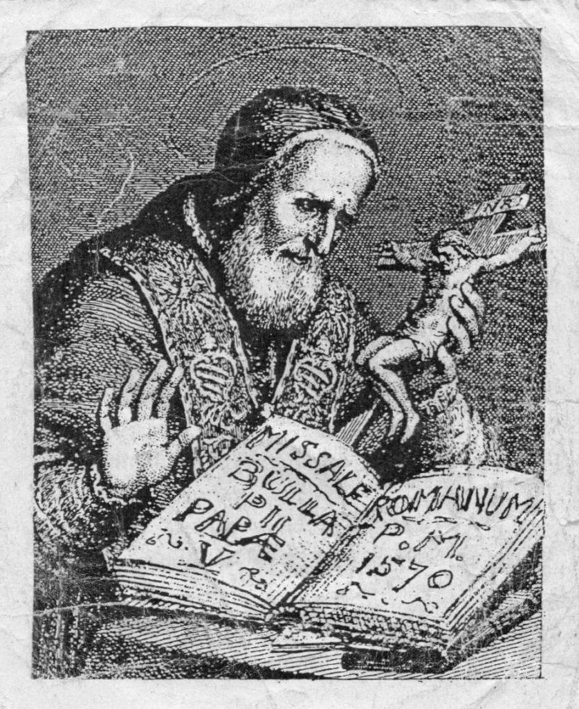 Sv. Pijo V. revidirao je Misal, no nije stvorio novi obred Mise.