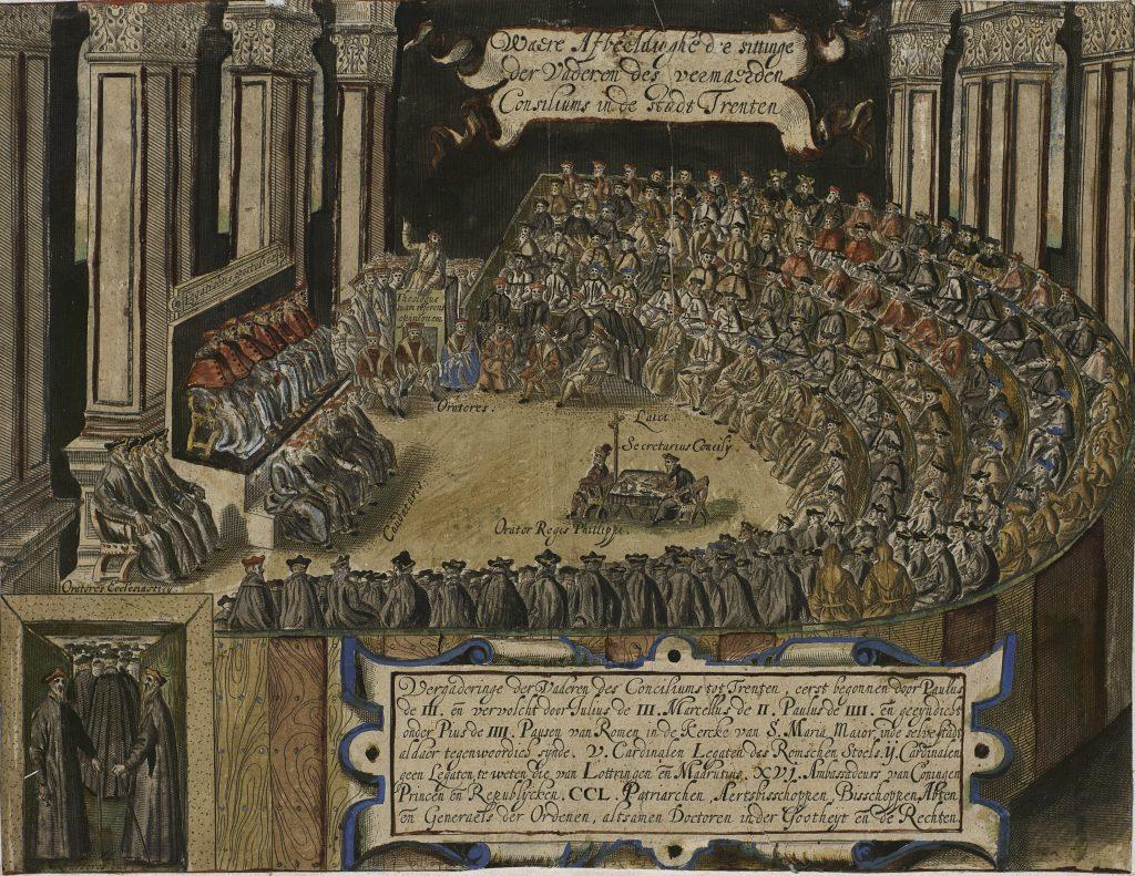 Tridentski sabor trajao je 18 godina, od 1545.-1563. Zrele i razborite odluke Koncila Crkvi su omogućile razdoblje prosperiteta i rasta koje je potrajalo skoro 400 godina.