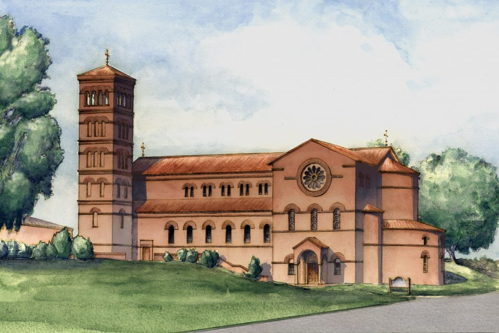 Nacrti za novu crkvu Gospe od Ružarija u Greenvilleu.